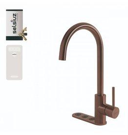 Selsiuz Selsiuz Unlimited 5-in-1 Rond Copper / Koper met TITANIUM Combi (Extra) boiler en Cooler