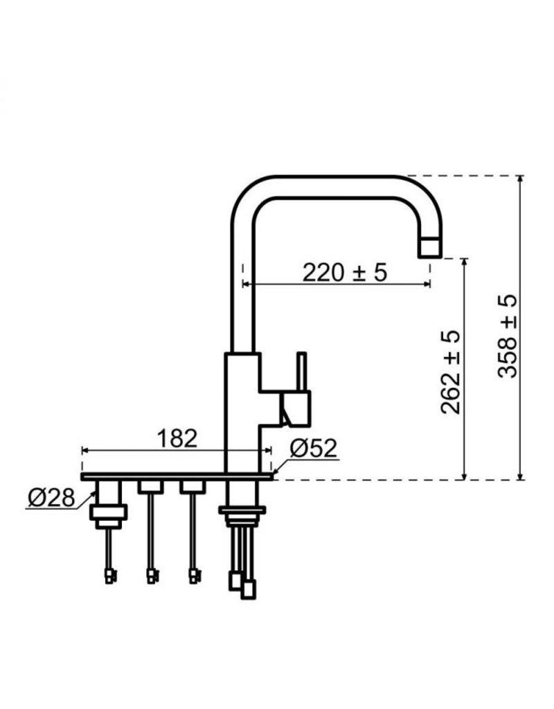 Selsiuz Selsiuz Unlimited 5-in-1 Haaks Inox (RVS) met TITANIUM Combi (Extra) boiler en Cooler