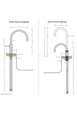 Quooker Quooker Twintaps Nordic Round Chroom met COMBI 2.2 reservoir