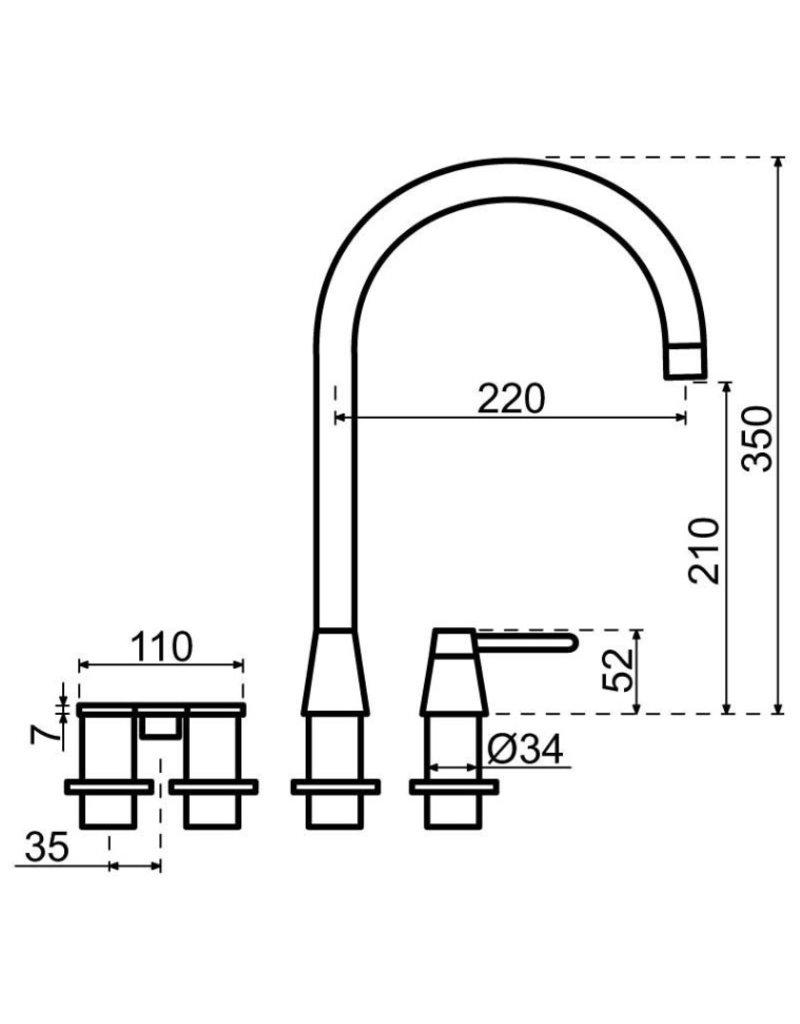 Selsiuz Selsiuz Osiris Cone Counter 5-in-1 Gun Metal Zwart met TITANIUM Single boiler en Cooler