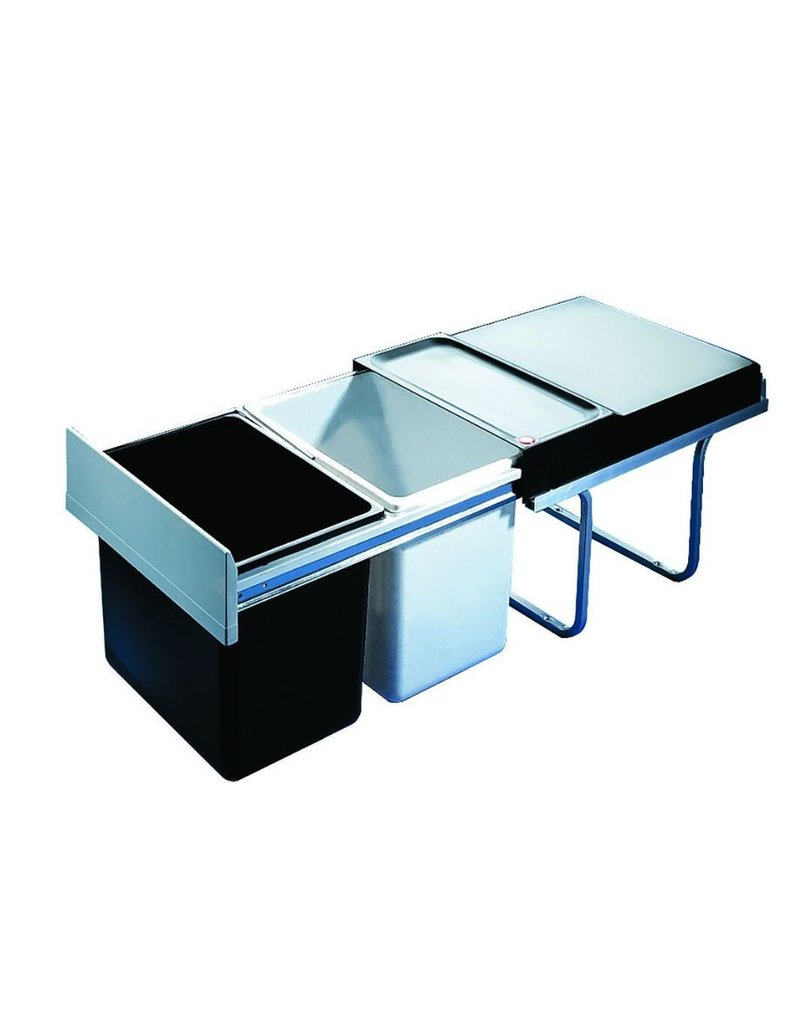 Hailo Hailo Afvalemmer 36 liter (2x18 liter) Zwart/grijs (3640-00)