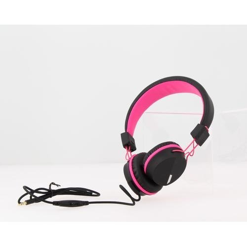 Kurio C18911GI hoofdtelefoon/headset Hoofdtelefoons Hoofdband Zwart, Roze