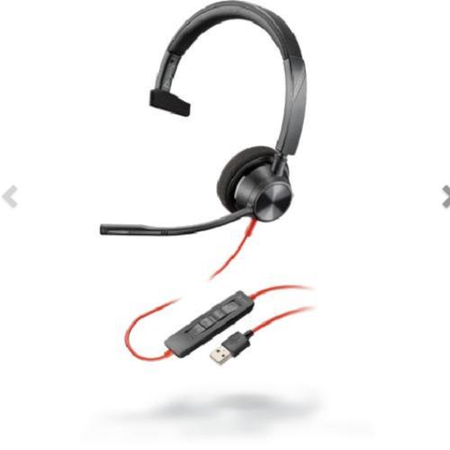 Poly Blackwire 3310 Headset Hoofdband Zwart