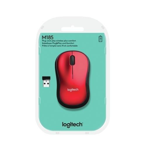 Logitech Logitech Wireless Mouse M185 Red