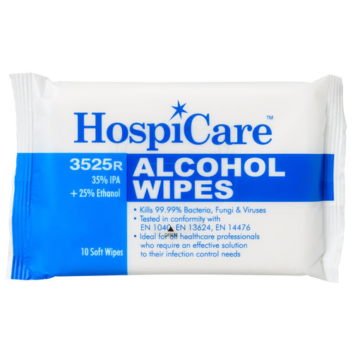 HospiCare Alcohol wipes - 10 pieces