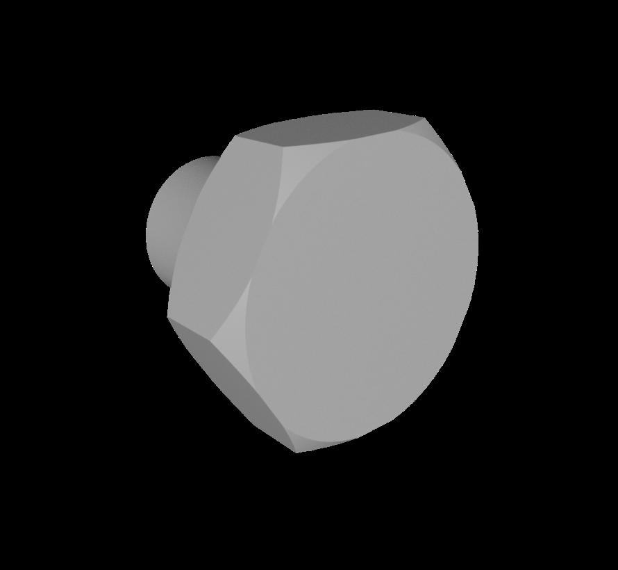 Deurknop in bout vorm
