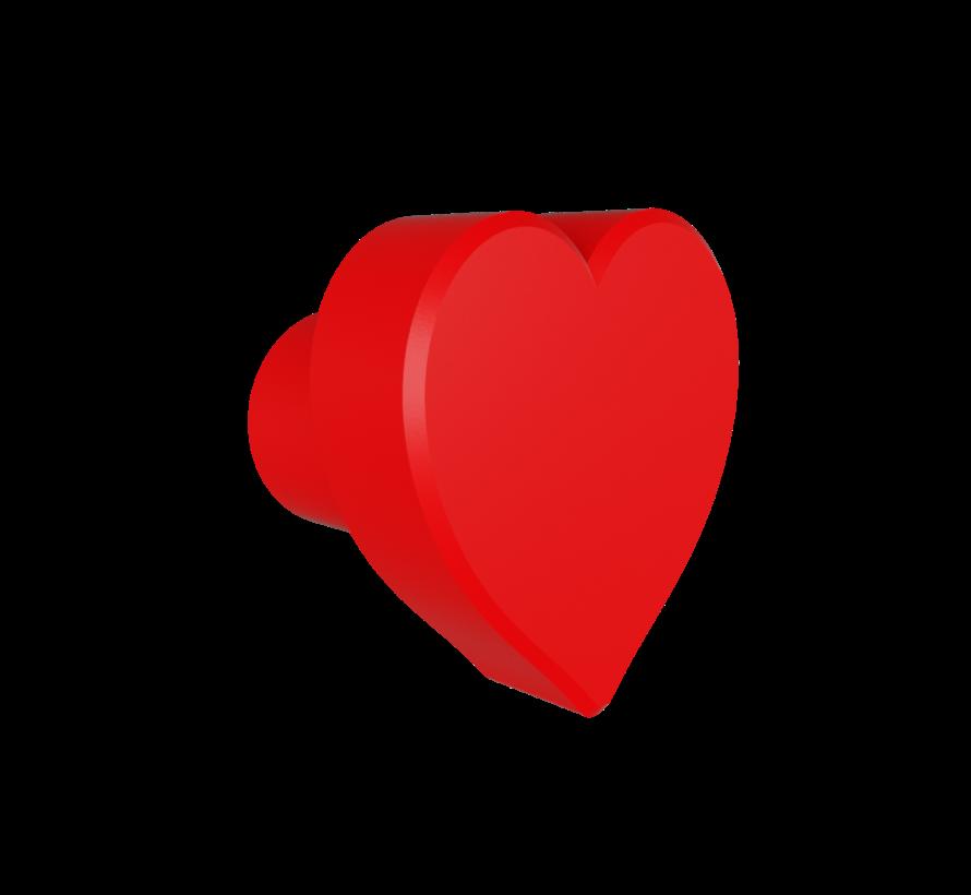 Doorknob with heart shape