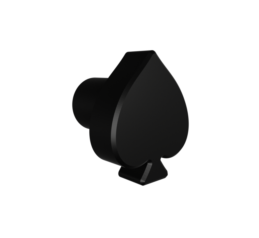 Doorknob with spade shape