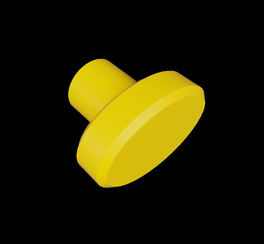 Deurknop met ovaalvormige handgreep