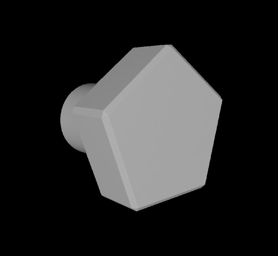 Deurknop met vijfhoekige handgreep