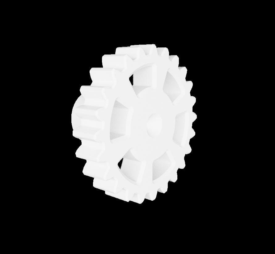 Deurknop met tandwiel handgreep