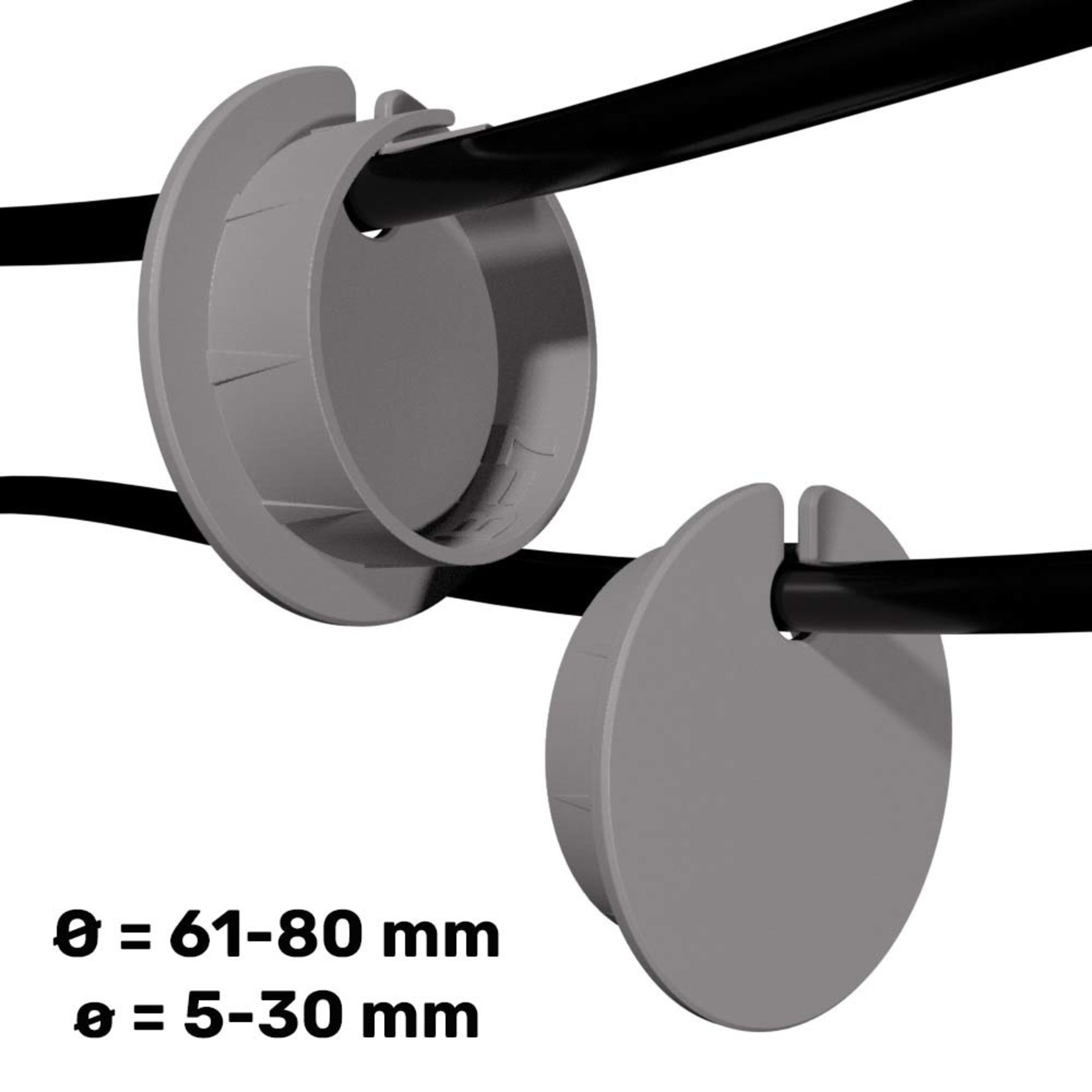 Umake Side cableguide Ø 61-80 mm | Customizable dimensions and colors