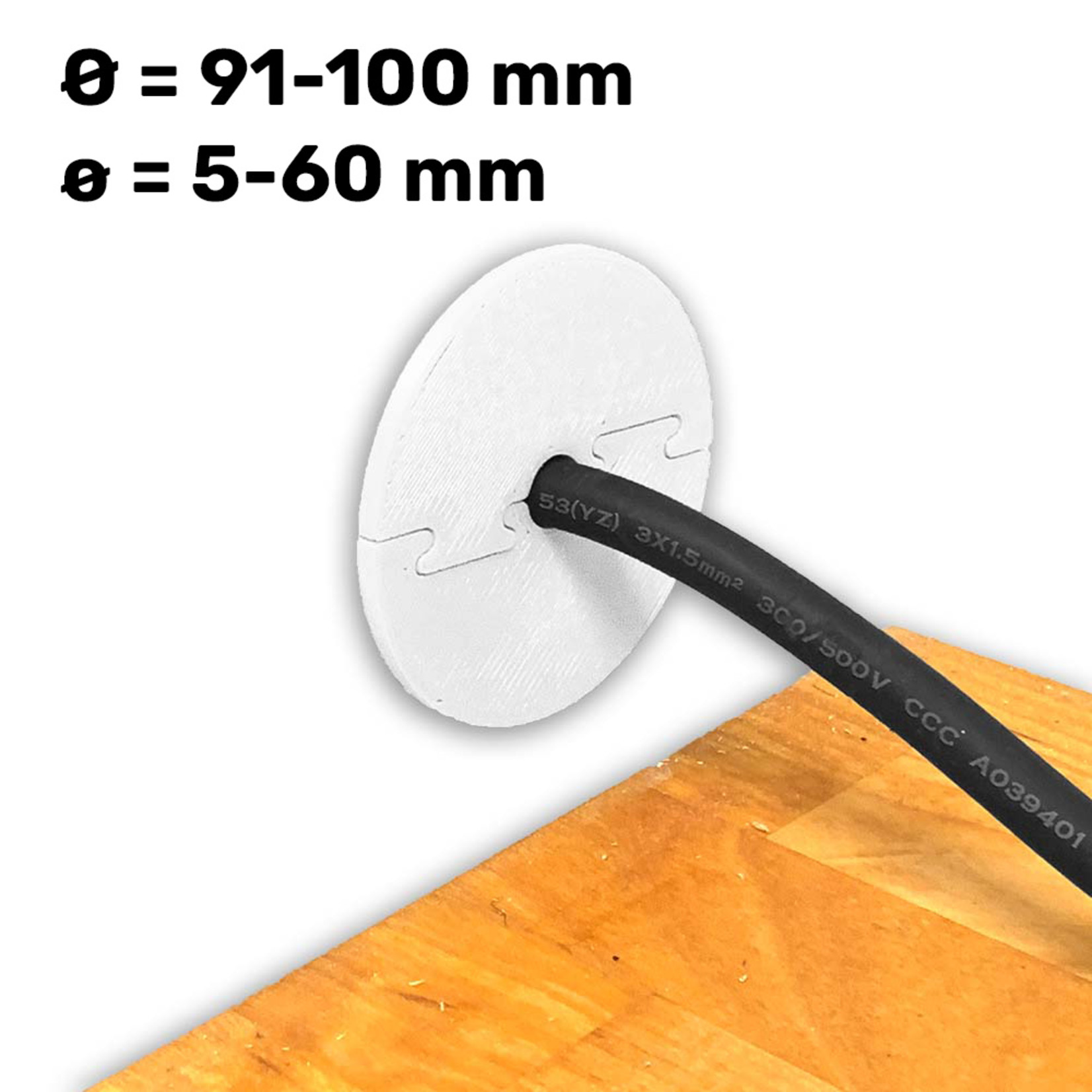 Umake Kabeldoorvoer Ø 91-100 mm | Afmetingen en kleur volledig aanpasbaar