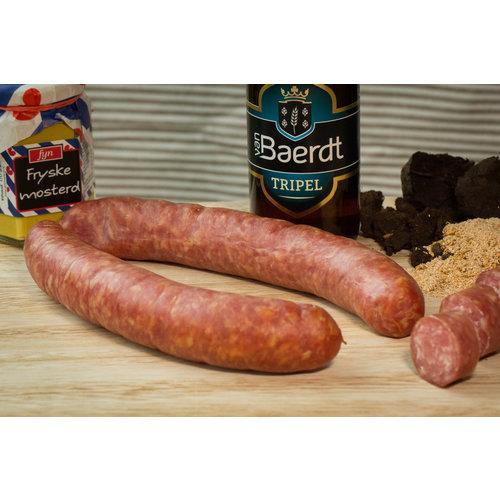 Wroetvarkensvlees Friese turfgerookte droge worst