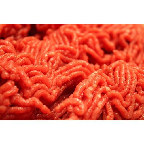Rundvlees uit de regio Grof gemalen Duitse biefstuk