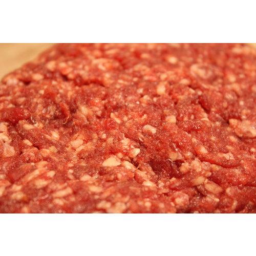 Rundvlees uit de regio Hamburger van puur rundvlees