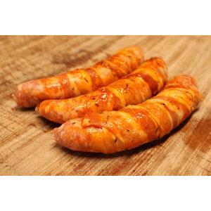 Wroetvarkensvlees Bourgondische worst