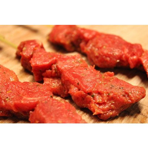 Rundvlees uit de regio Biefstukspies