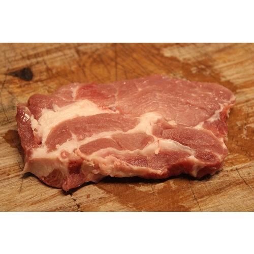 Wroetvarkensvlees Steak gesneden uit de procureur
