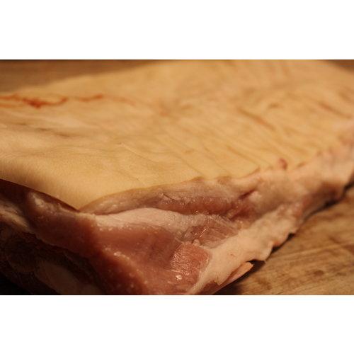 Wroetvarkensvlees Varkensbuik zonder been en met zwoerd