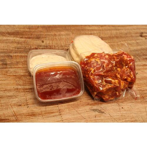 Wroetvarkensvlees Shoarmapakket