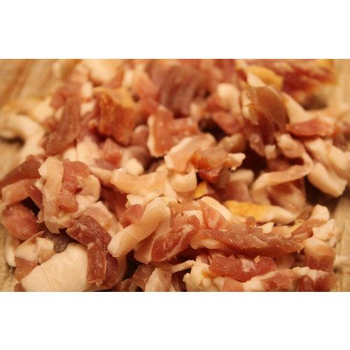 Wroetvarkensvlees Magere spekblokjes voor door de stamppot