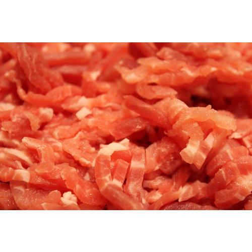Wroetvarkensvlees Naturel reepjes vlees