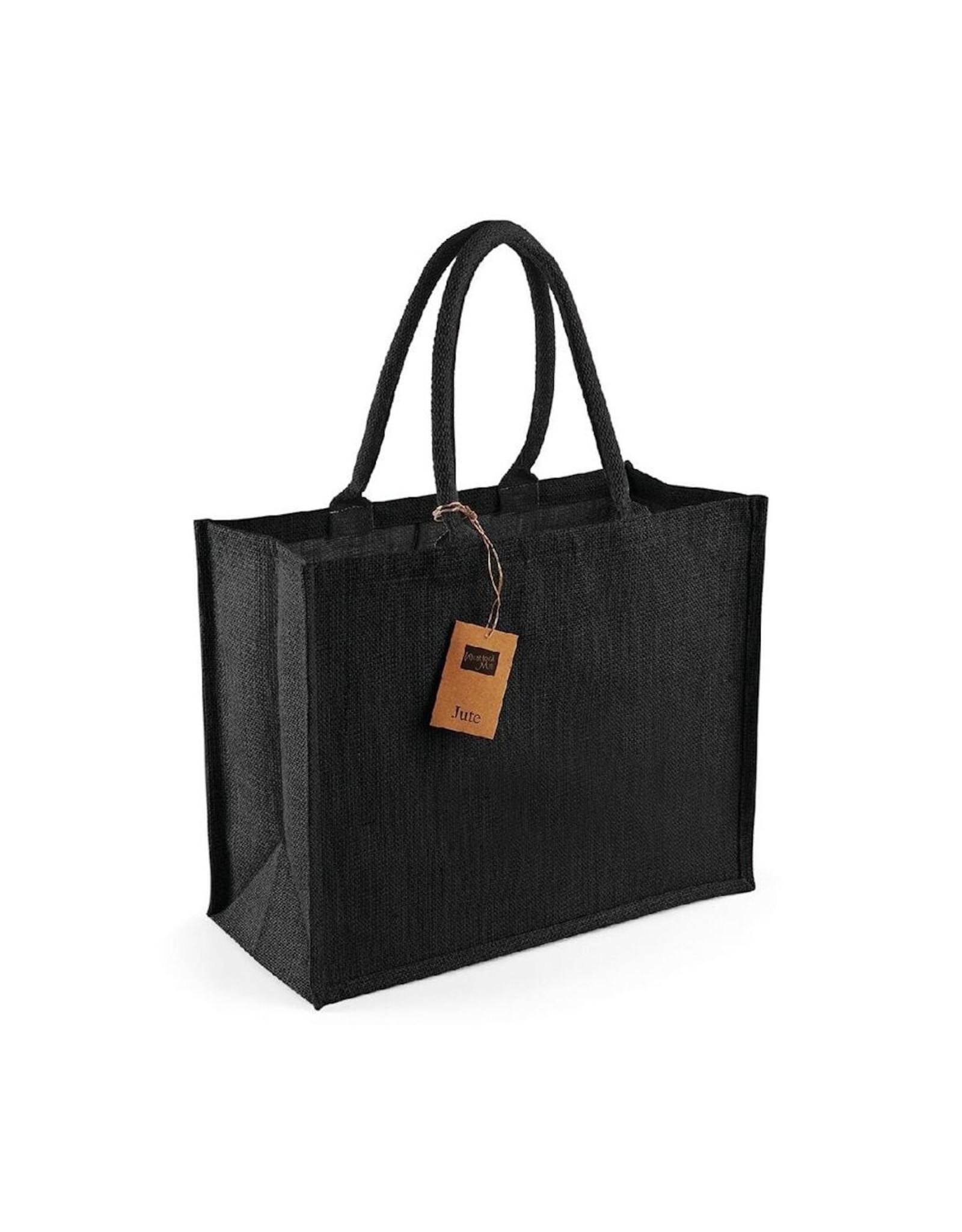 Jute tas (groot) - zwart - zwart
