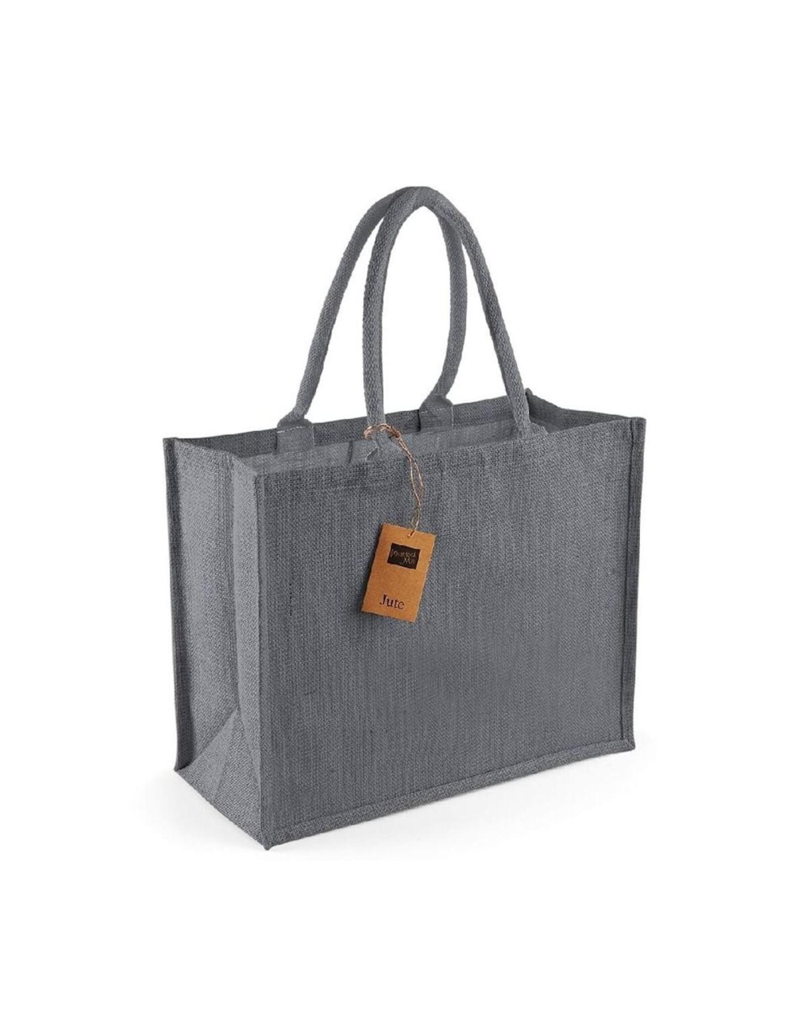 Jute tas (groot) - grijs - grijs