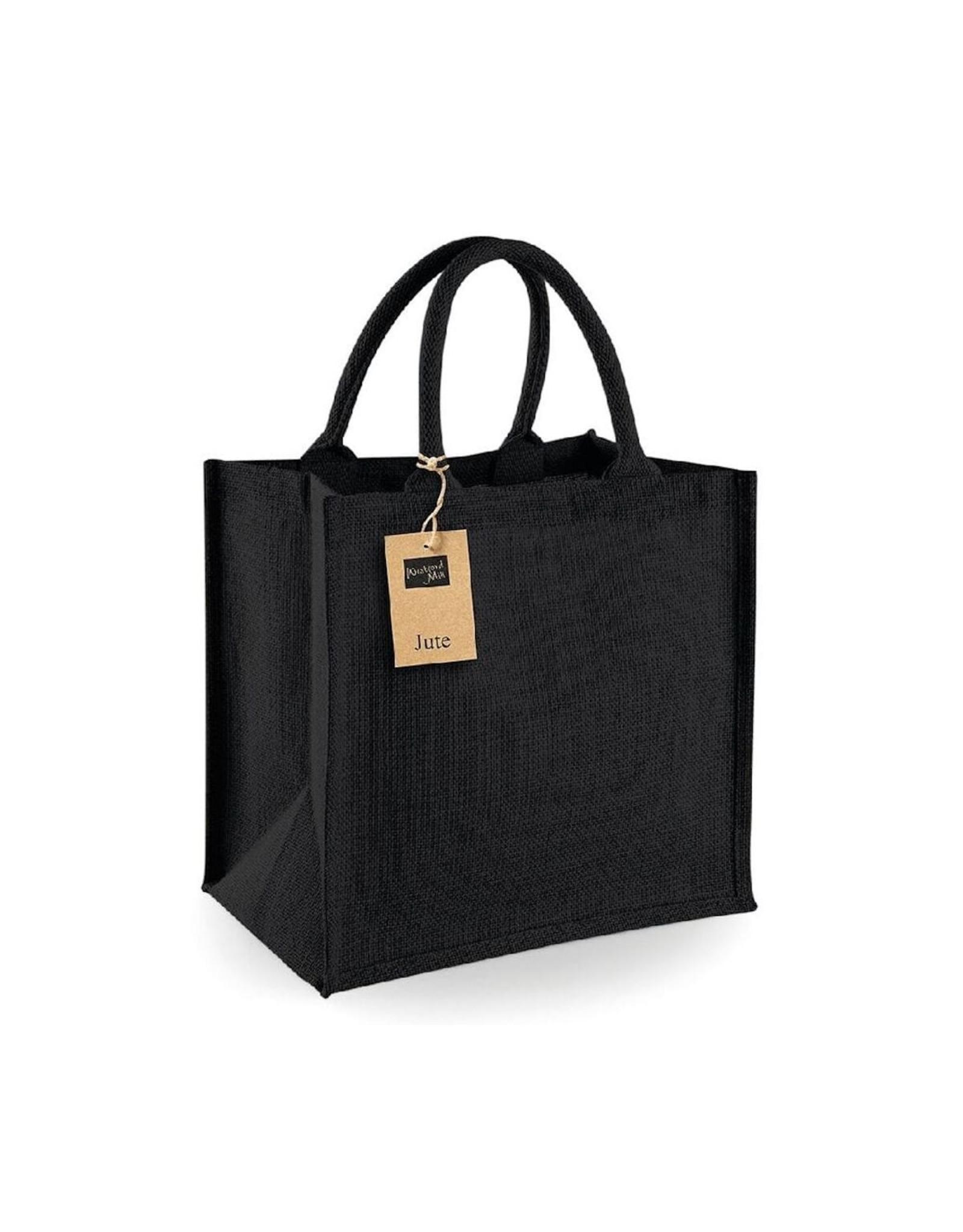 Jute tas (midi) - zwart-zwart
