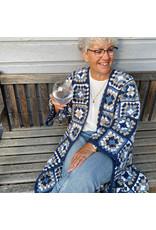Patroon granny coat