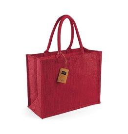Jute tas (groot) - rood - rood