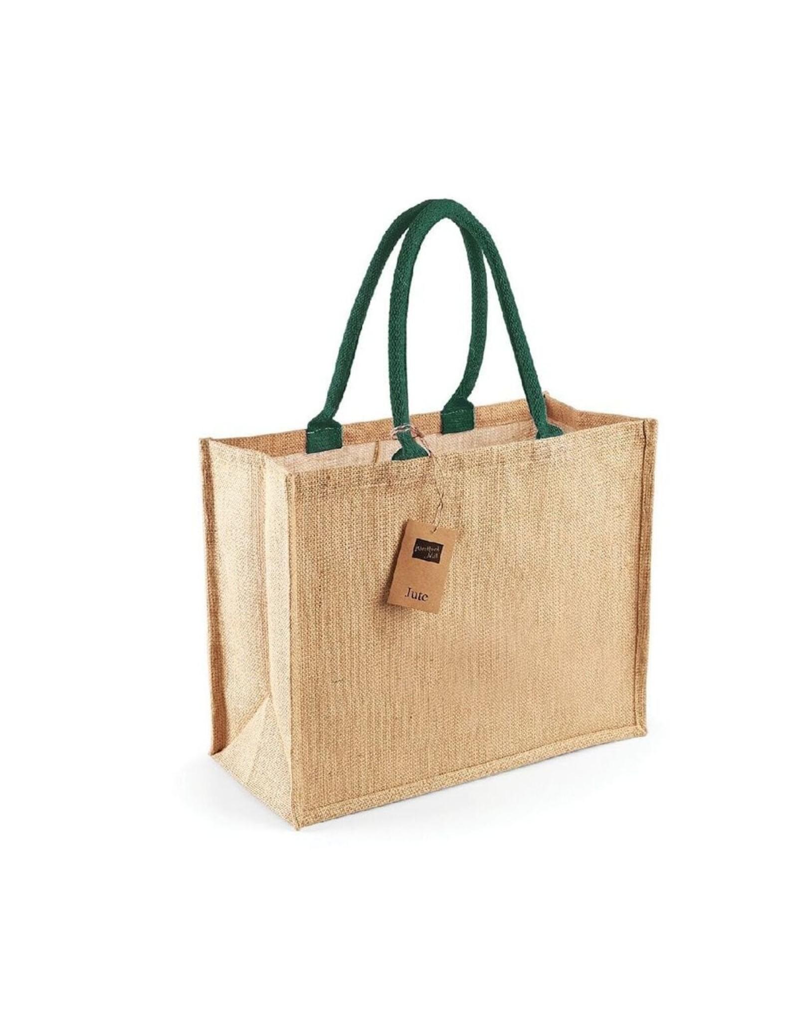 Jute tas (groot)-natuur -forrest - groen
