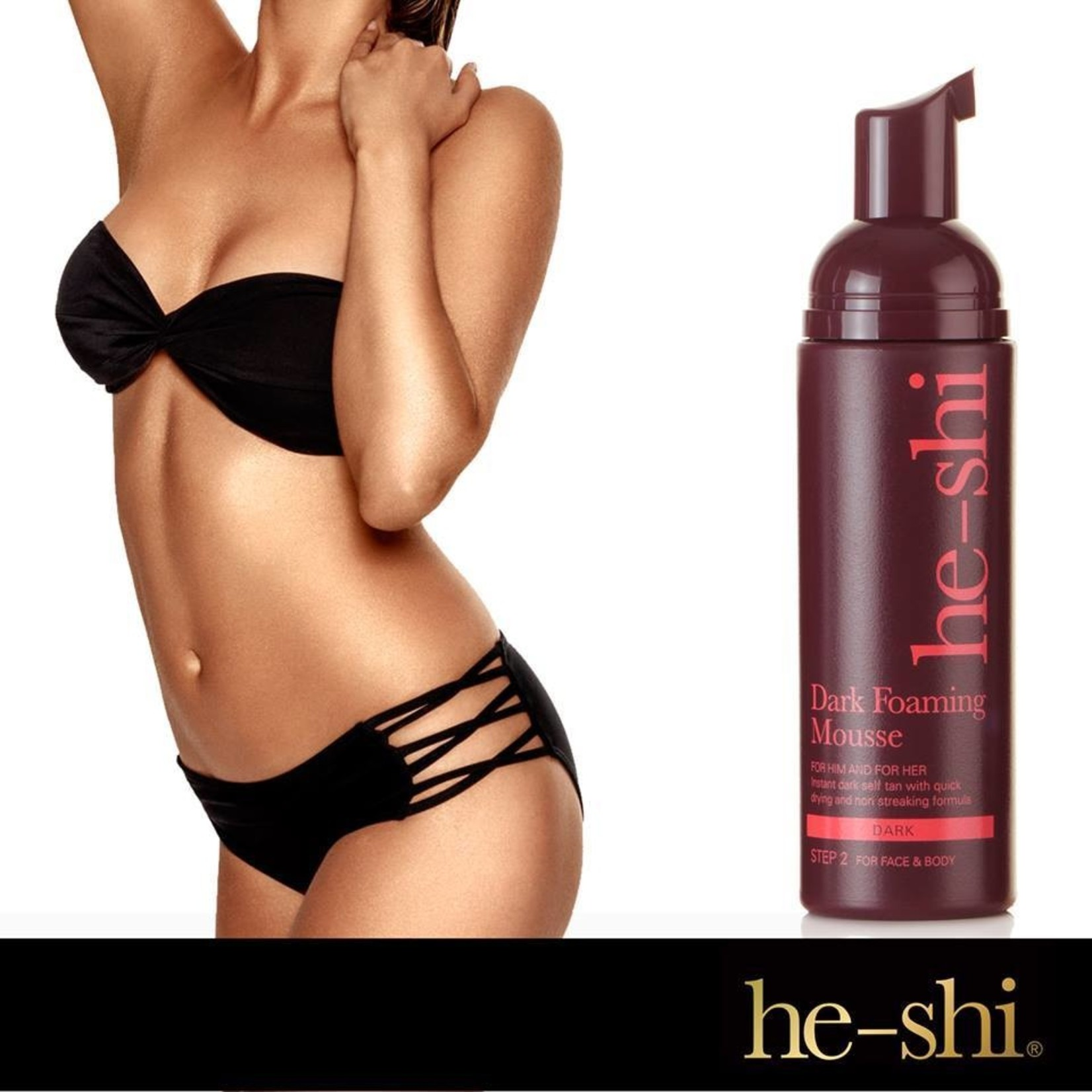 He-Shi Dark foaming mousse