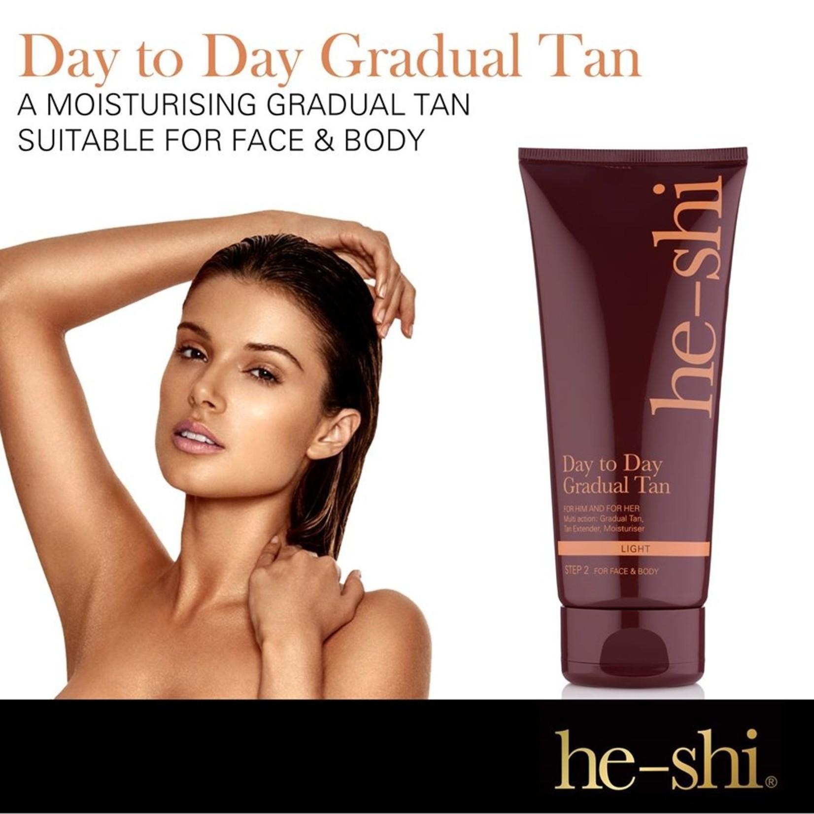He-Shi Day to day gradual tan