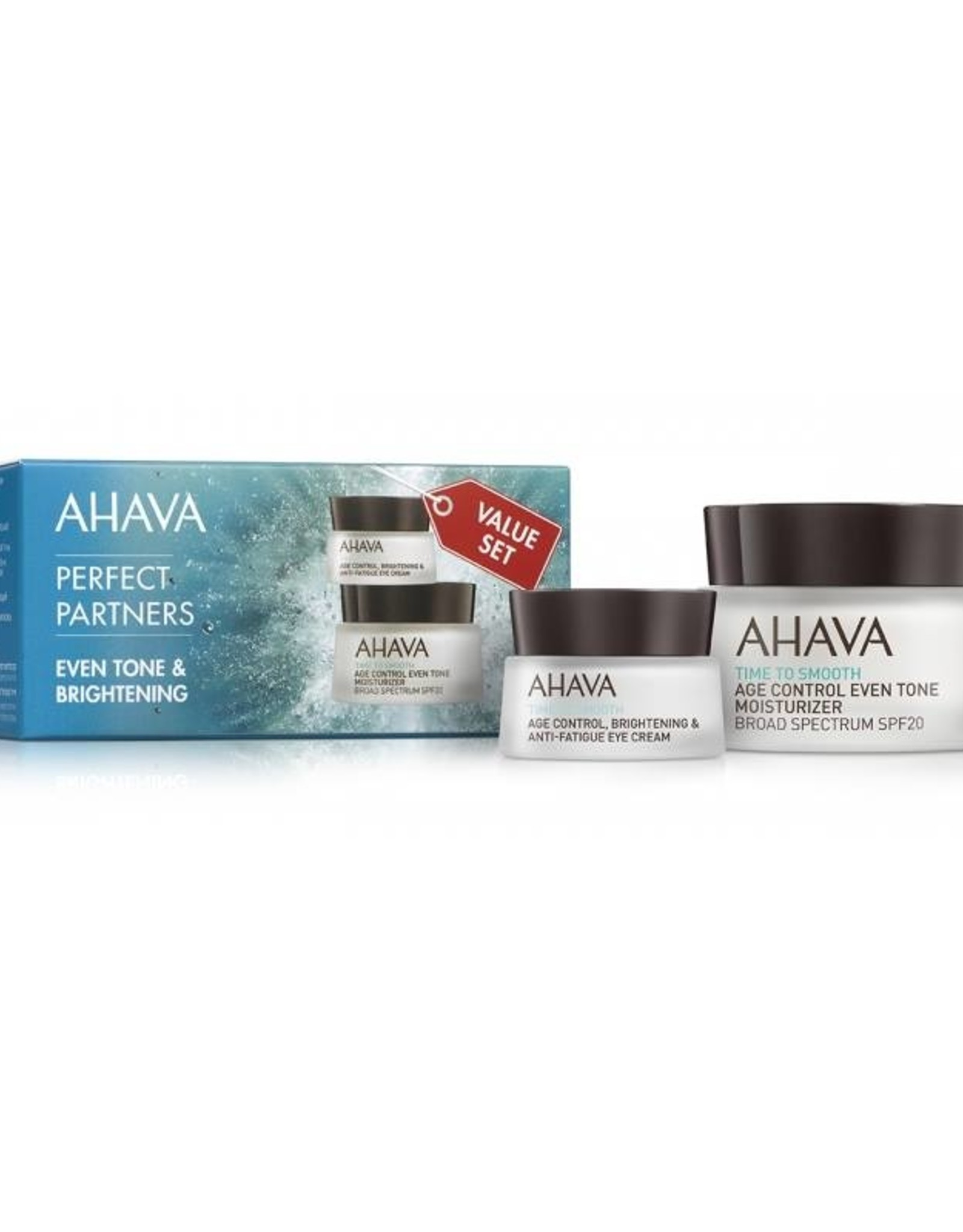 AHAVA Perfect partners even tone spf 20  50ml &brightening eye cream 15ml