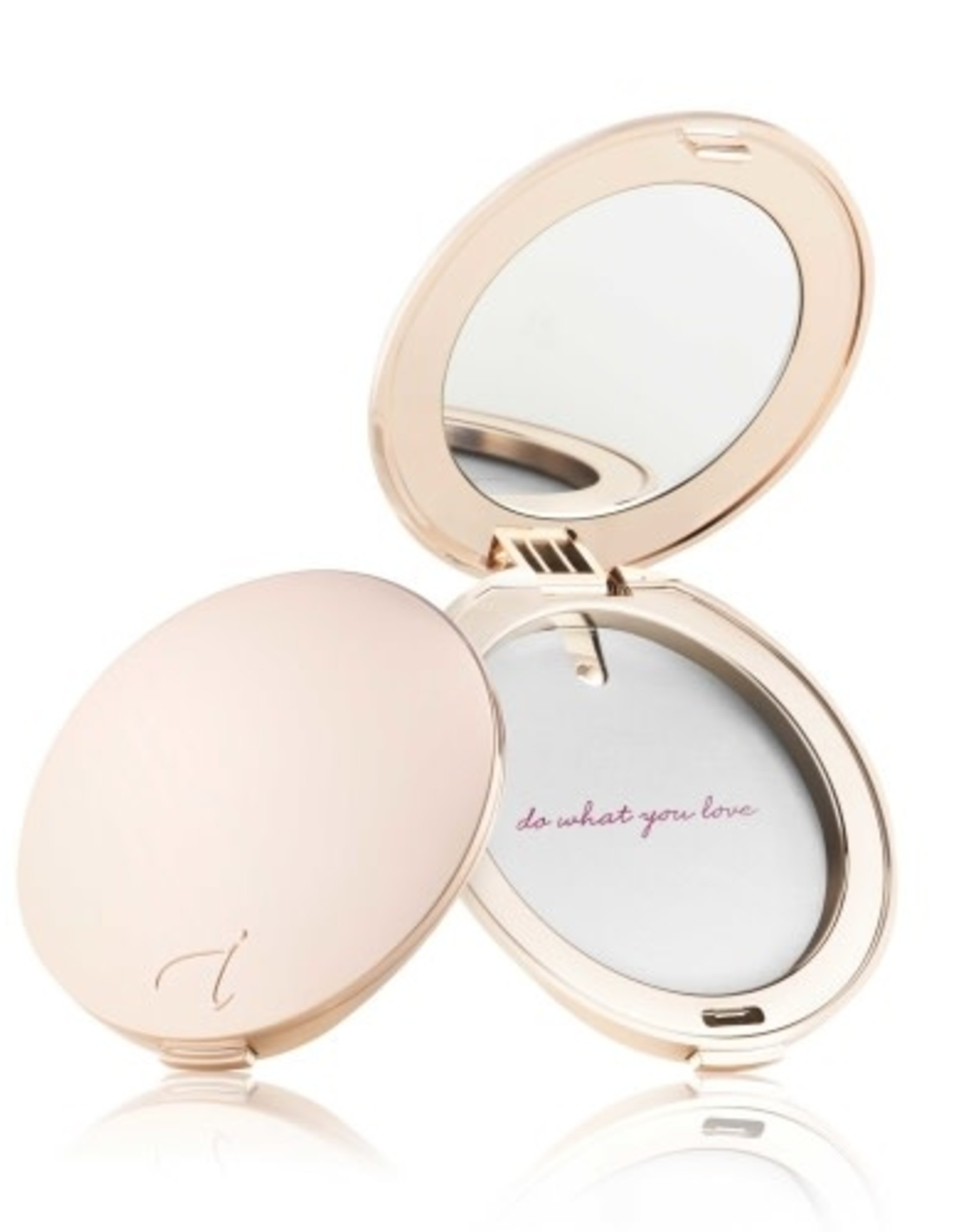 Rose gold compact refillable
