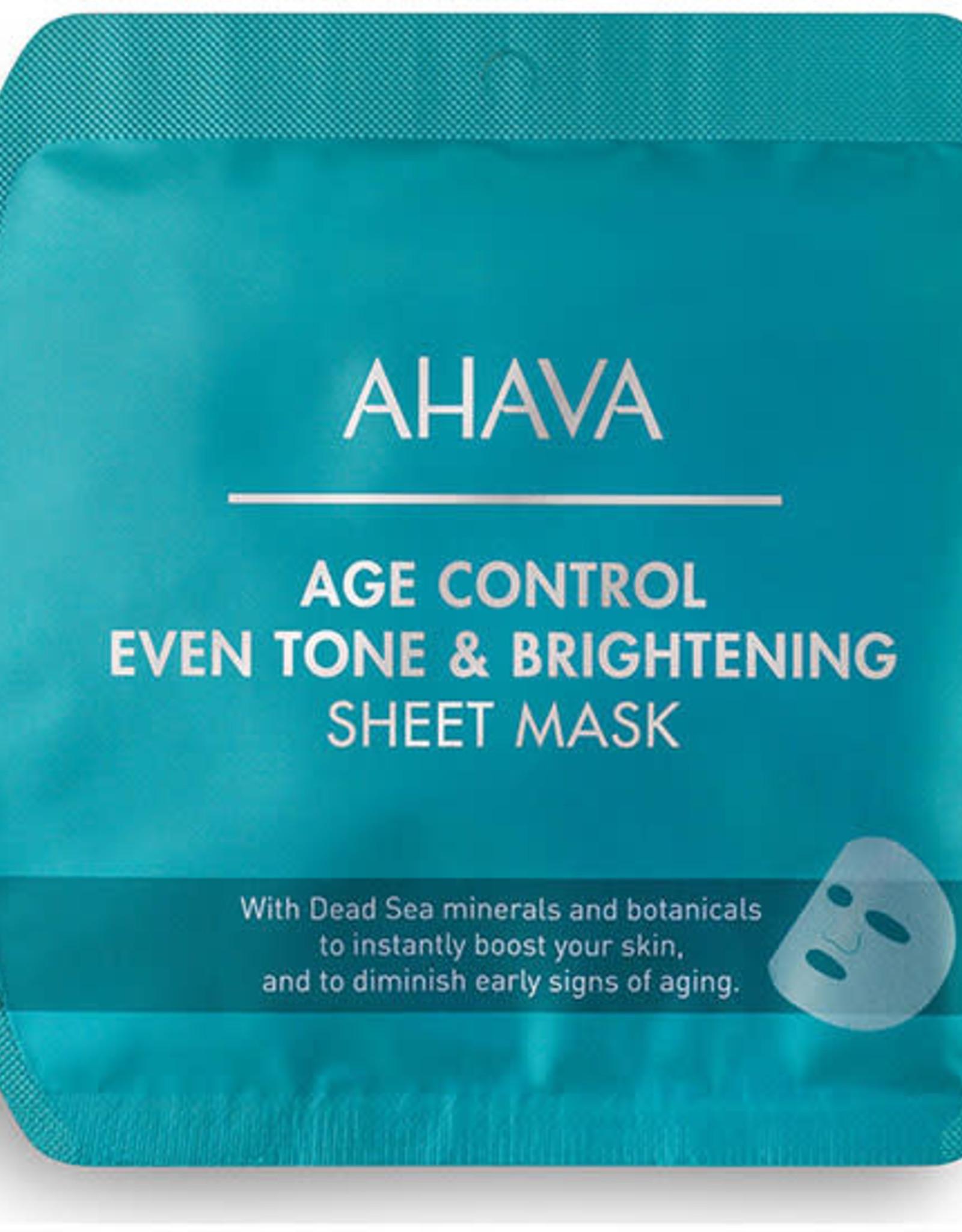 AHAVA Even tone brightening sheet mask