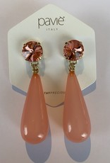 Oorbellen koraal roze/oranje Or 20 14 a