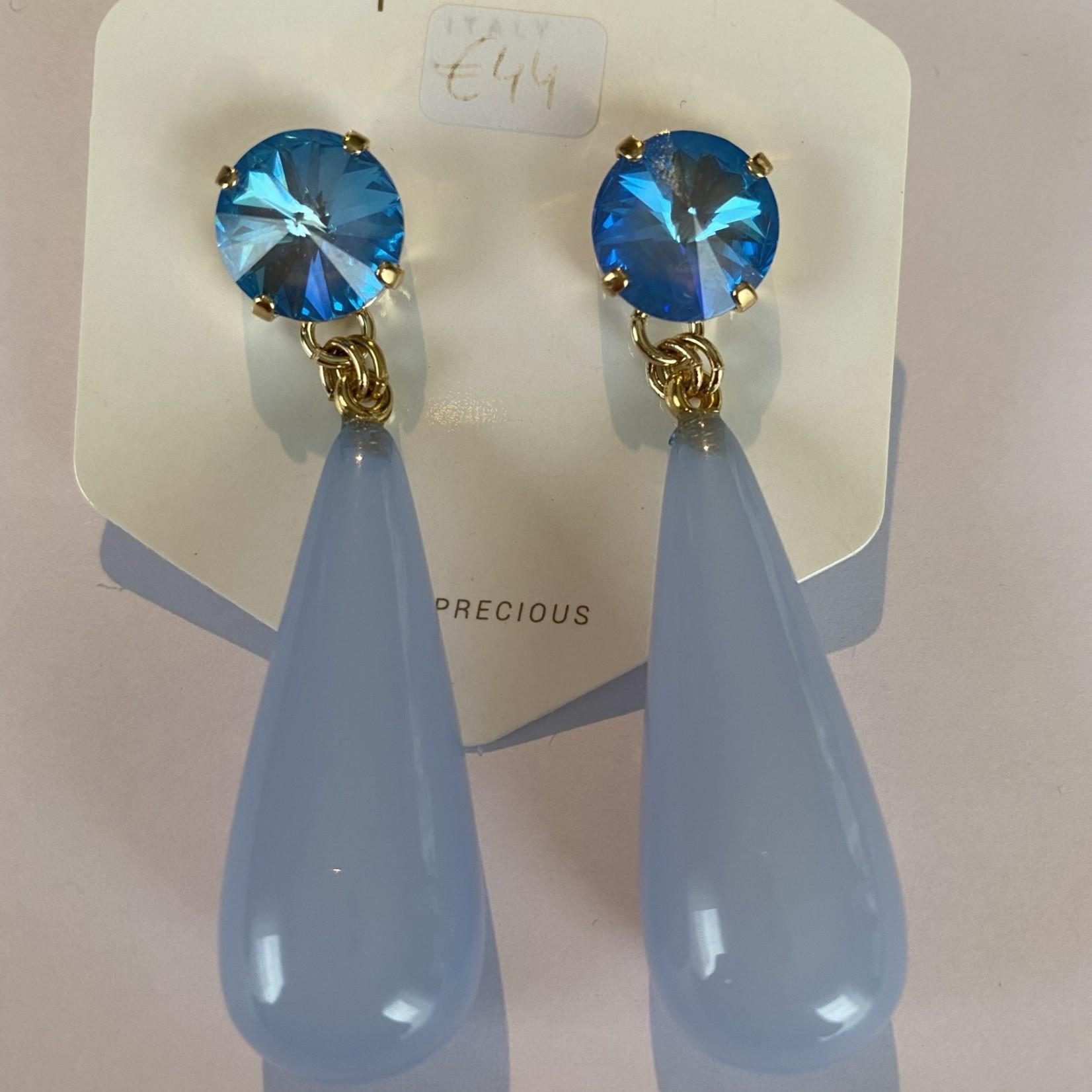 Oorbellen Licht blauw  Or 20 14 a