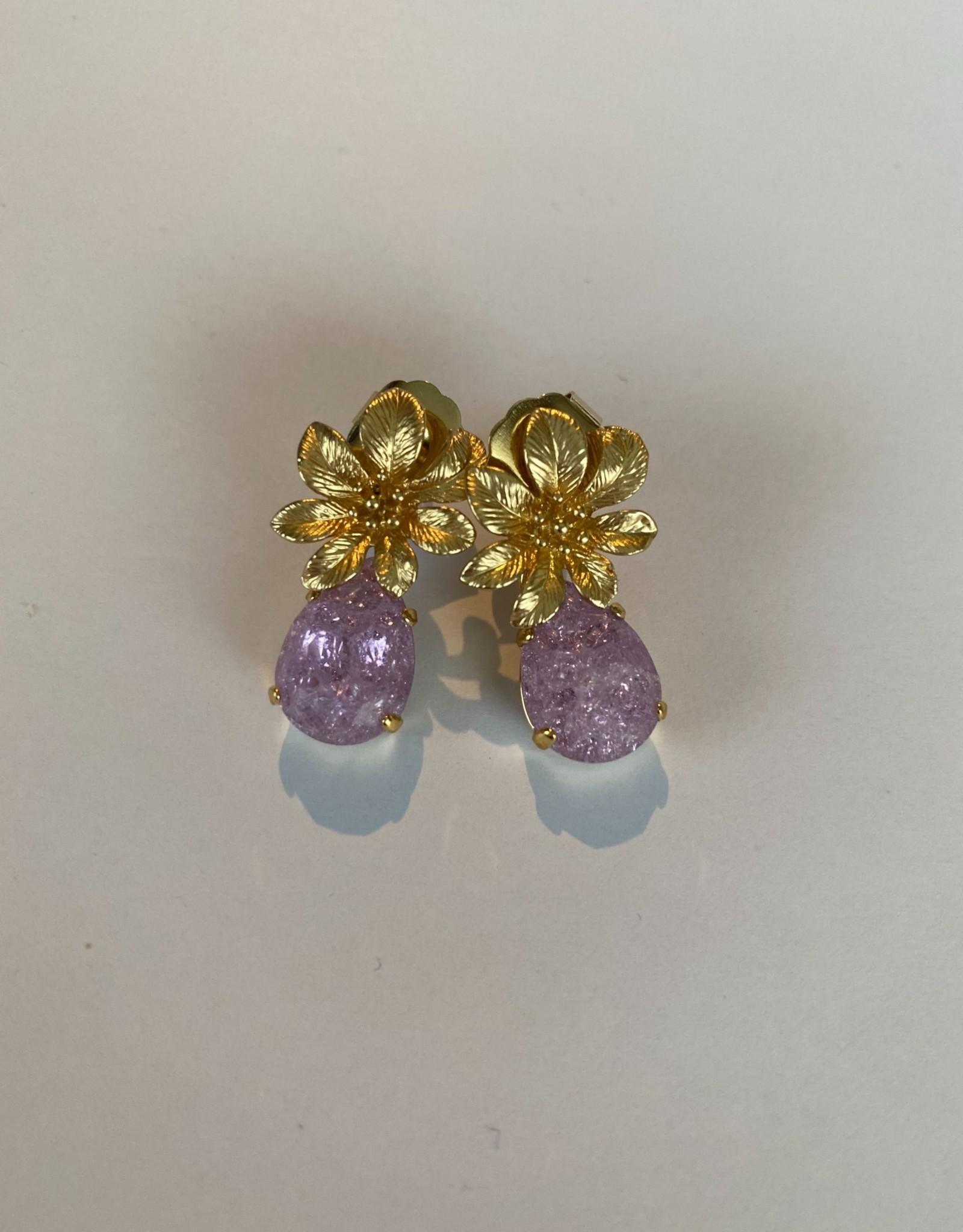 Oorbellen lila Or20 02 c