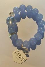 Armband pastel blauw br 20 25 c