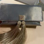 KATHIE  tassel clutch rose gold