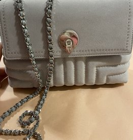 Ted Baker SADDIIE studded circle lock xbody bag - light grey