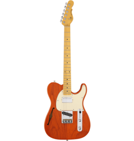 G&L  Tribute ASAT Classic Bluesboy Semi-Hollow Clear Orange MN