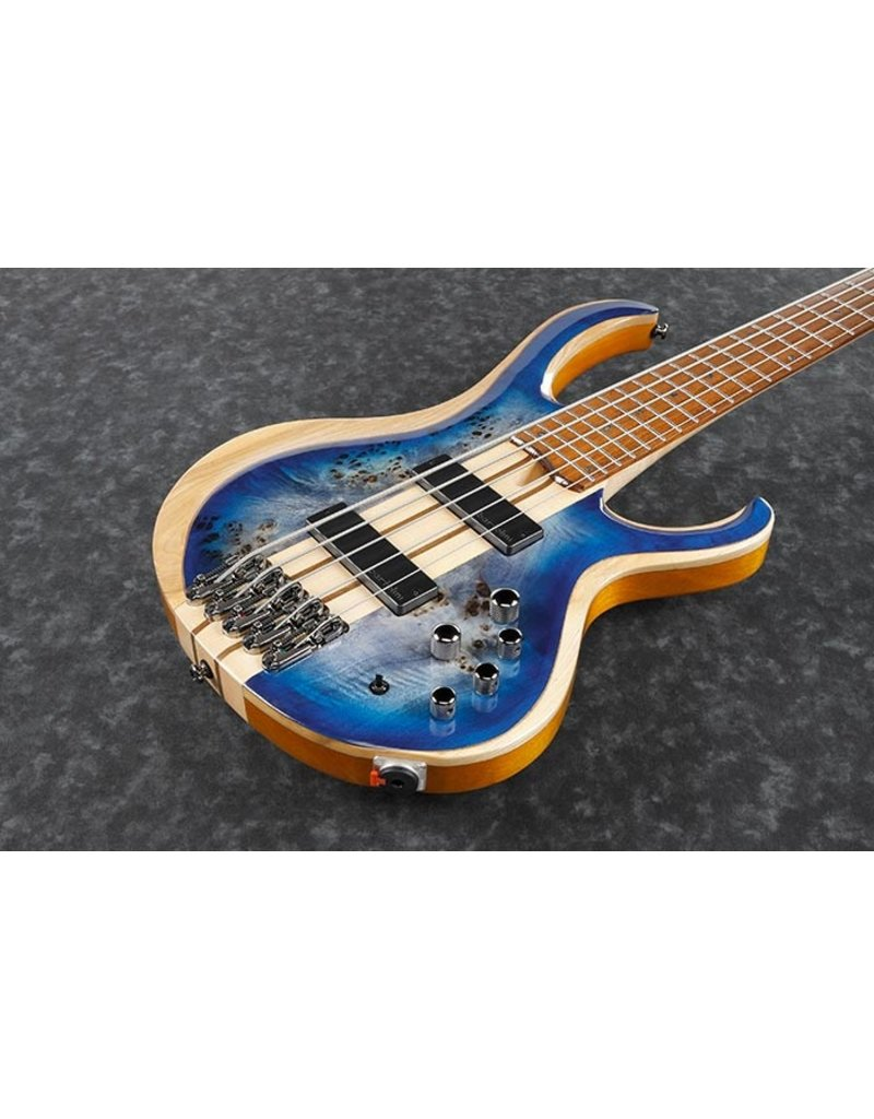 ibanez  BTB845-CBL Cerulean Blue Burst Low Gloss 5-snarige elektrische basgitaar