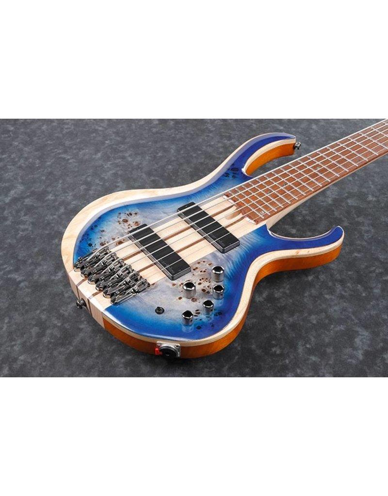 ibanez BTB846-CBL Cerulean Blue Burst Low Gloss 6-snarige elektrische basgitaar