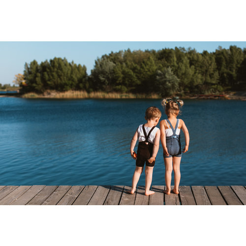 Silly Silas Korte maillot met bretels  - Chocolate Brown