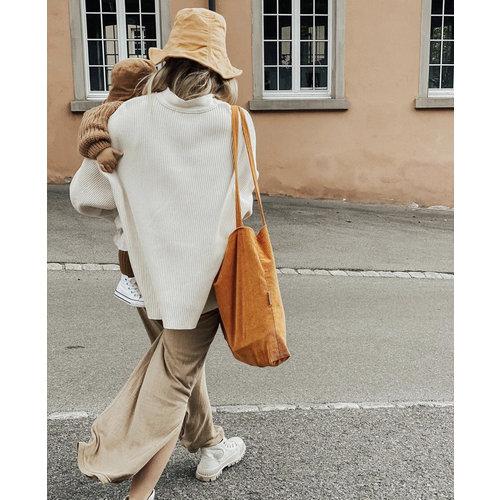 Studio Noos Orange rib mom-bag