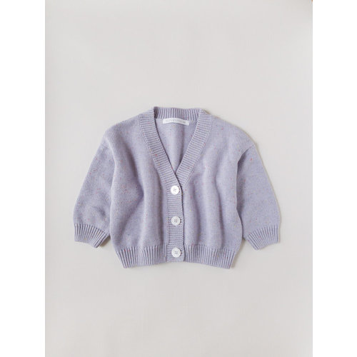 Kids of April Rainbow Speckle Cardigan - Lavender